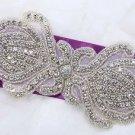 """6"""" Crystal Bridal Applique Diamante Bead Motif Rhinestone Wedding Accessories"""