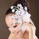 Bridal Lace Wedding Cream Flower Hair Clip Headpiece Fascinator