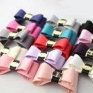 Simple Fashion Color Black White Ribbon Bow Shoe Clips Pair