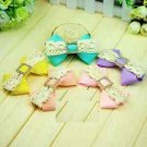 2pcs x Yellow/Green Blue/Pink/Purple/ Bow Rhinestone Wedding Bridal Shoe Clips