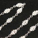 1/2 yd Stunning Beaded Crystal Rhinestone Diamante Trim Bridal Wedding Chain