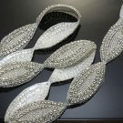 1 Yard Wedding Dress Sash Rhinestone Crystal Beaded Sew Iron On Applique Trim