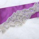 "7"" Beaded Glass Rhinestone Crystal Wedding Dress Sew Iron On Applique DIY"