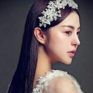 Wedding Bridal Poem Plastic Faux Pearl Flowers Hair Tiara Headpiece