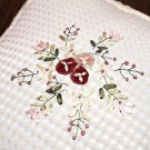 2 PCS x Embroidery Flower Lace Round 39cm x 36cm Pillow Case Cushion Cover