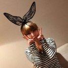 Halloween Party Sexy Black Lace Rabbit Ear Headband Hair Accessory