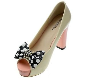 Black White Dots Crystal Bow Fashion High Heel Plastic Shoe Clips Charms Pair