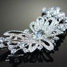 Wedding Bridal Flower Rhinestone Crystal Sash Hair Craft Brooch Pin