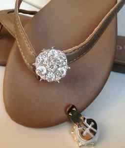 Bridal Stunningly Rhinestone Crystal Sparkling Shoe Clips Sandals Jewelry