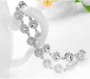 Wedding Women Silver Cubic Zirconia New Jewelry Tennis Bracelet