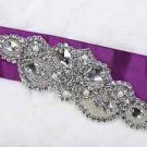 Lot Of 2 Vintage Style Wedding Beaded Rhinestone Crystal Faux Pearl Applique