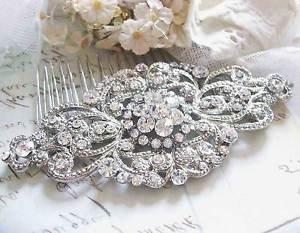 Victorian Wedding Bridal Rhinestone Crystal Princess Hair Comb Headpiece Jewelry