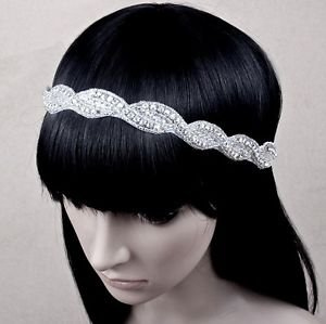 Wedding Bridal Rhinestone Crystal Applique Headband Hair Accessories