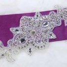 Wedding Bridal Beaded Rhinestone Crystal Bridal Ribbon Belt Craft Applique