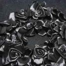 New Black Handmade Organza Pleated Trim Elastic Lace Ruffle Flower Doll 1 Yard