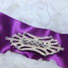 Wedding Bridal Sash Belt Rhinestone Crystal Vintage Style Buckle Brooch Pin