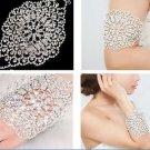 Crystal Rhinestone Arm Cuff Bridal Body Chain Silver Armlet Bridal Wedding
