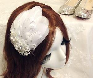 Feather Lace Hair Clip,Bridal Hair Clip,Wedding Hair Clip,Flower Clip,Alligator