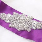 Faux Pearl Beaded Rhinestone Crystal Wedding Bridal Gown Garter Craft Applique