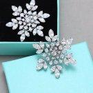 Wedding Bridal Rhinestone Crystal Snowflake Snow Winter Boots Shoe Clips Pair