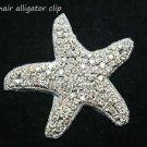 Christmas Party Prom Wedding Bridal Starfish Star Applique Hair Alligator Clip