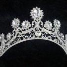 Wedding Bridal Vintage Clear Rhinestone Crystal Bride Crown Tiara Headpiece