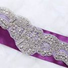 Wedding Bridal Sash Dress Rhinestone Crystal Belt Sew Iron Applique Trim DIY
