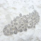 Wedding Bridal Rhinestone Crystal Flower Leaf Hair Comb Headpiece Accessories