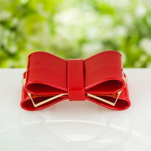 Artificial Leather Butterfly Bow Boots Buckle Fashion Lady Woman Shoe Clips Pair