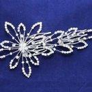 Wedding Prom Bridal Rhinestone Crystal Flower Tiara Hair Comb Headpiece