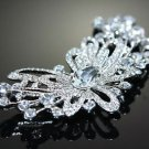 Wedding Bridal Rhinestone Crystal Flower Hair Brooch Pin Jewelry