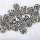 Vintage Fashion Rhinestone Crystal Motif Wedding Bridal Dress Sash Applique DIY