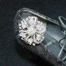 Bridal Wedding Aurora Borealis Crystal Rhinestone Shoe Clips Charms Buckle Pair