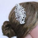 Bridal Wedding Large Vintage Style Rhinestone Crystal Hair Comb Headpiece