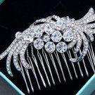 Wedding Bridal Vintage Style Feather Rhinestone Crystal Hair Comb Headpiece