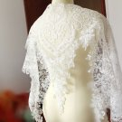 91 cm Off White Wedding Bridal Veil Embroidered Lingerie French Lace Trim Fabric