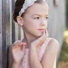 Flower Girl Silver Rhinestone Crystal Wedding Ivory Pearl Applique Headband