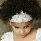 Wedding Bridal Baby Flower Girl Rhinestone Crystal Applique Headpiece Headband