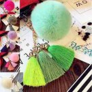 Pom Pom Keychain Key Chain Bag Ornament Tassel Keyring