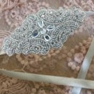 Wedding Bridal Rhinestone Crystal Applique Handmade Tiara Headband Hairband