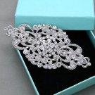 Rhinestone Silver Rose Gold Hair Barrette Clip Vintage Wedding Headpiece