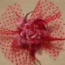 Wedding Bridal Flower Feather Fascinator Hair Headpiece Head Clip Accessories