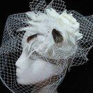 Wedding Bridal Feather Headband Fascinator Headpiece Birdcage Veil Hair Clip