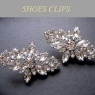 Vintage Style Rhinestone Crystal Wedding Bridal Shoe Clips Pair Decoration