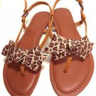 Sexy Leopard Skin Pattern Ribbon Bow Women Boots Flip Flop Shoe Clips Pair