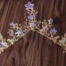 Wedding Crystal Starfish Star Leaf Gold Tiara Headpiece Hair Crown
