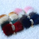 Wedding Shoes Faux Fur Crystal Charm Bridal Shoe Clips Pair