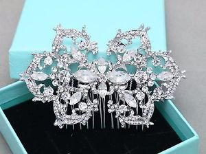Vintage Style Bridal Rhinestone Comb Wedding Hair Clip Crystal Headpiece