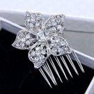 Rhinestone Crystal Bridal Flower Hair Comb Wedding Headpiece Hair Accessories
