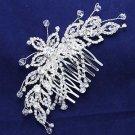 Bridal Flower Crystal Wedding Headpiece Hair Rhinestone Comb Accessories